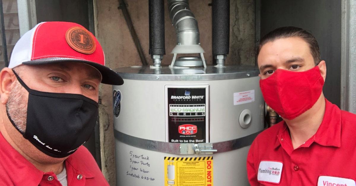Water Heater Leak Repair from Moffett